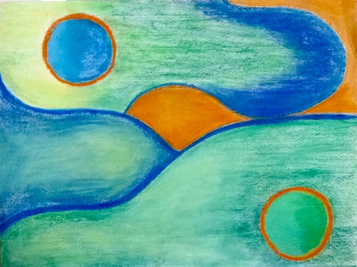 Abstract Landscape With Orange